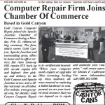 Gold Canyon Computer Repair Apache Junction Chamber Ribbon Cutting 2/21/11